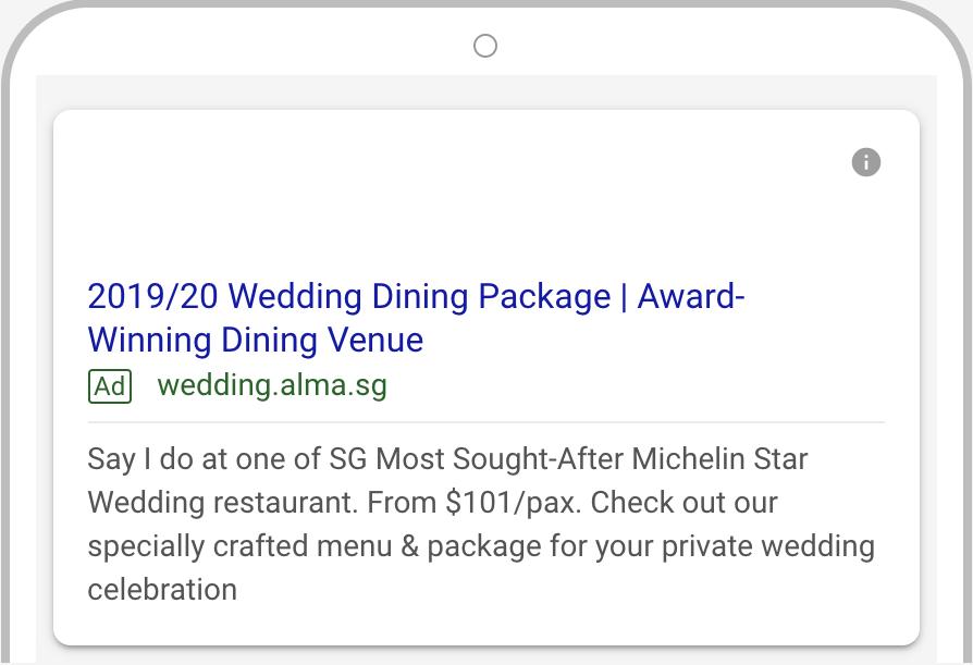 Alma wedding Google AdWords 2