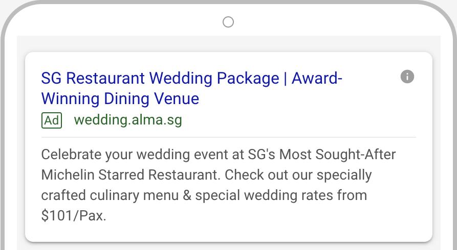 Alma wedding Google AdWords 3