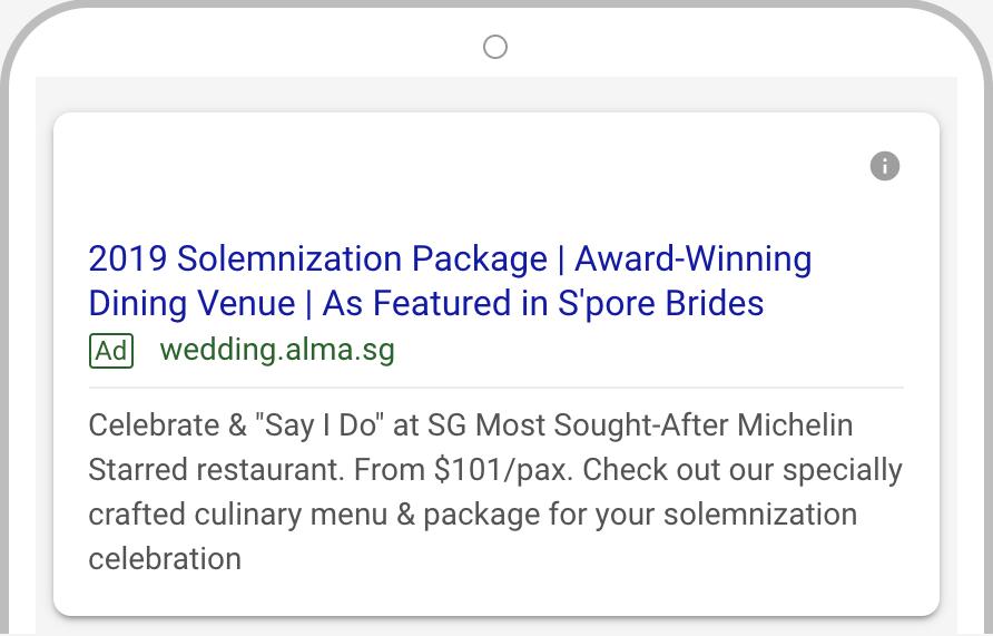 Alma wedding Google AdWords 4