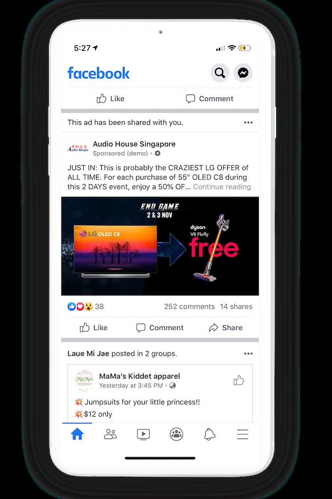 End Game Facebook ad 4