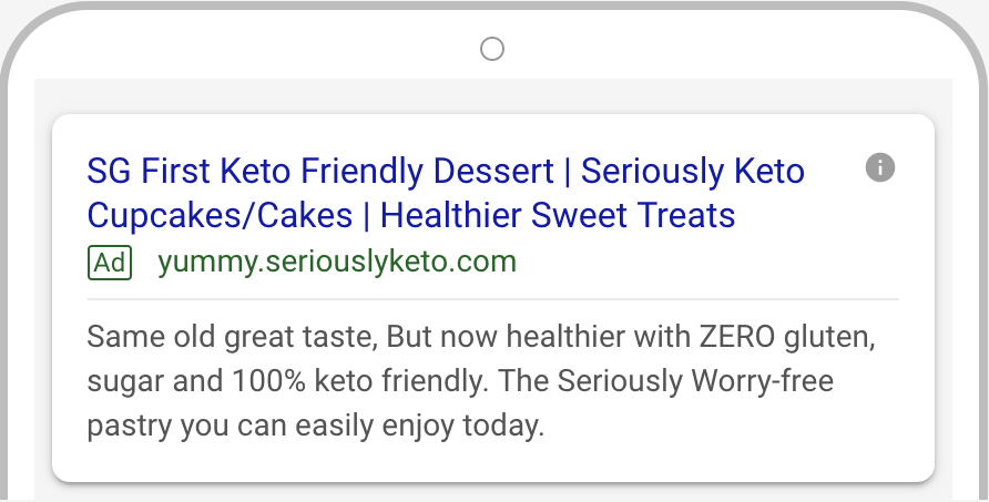 Seriously Keto Google AdWords 3