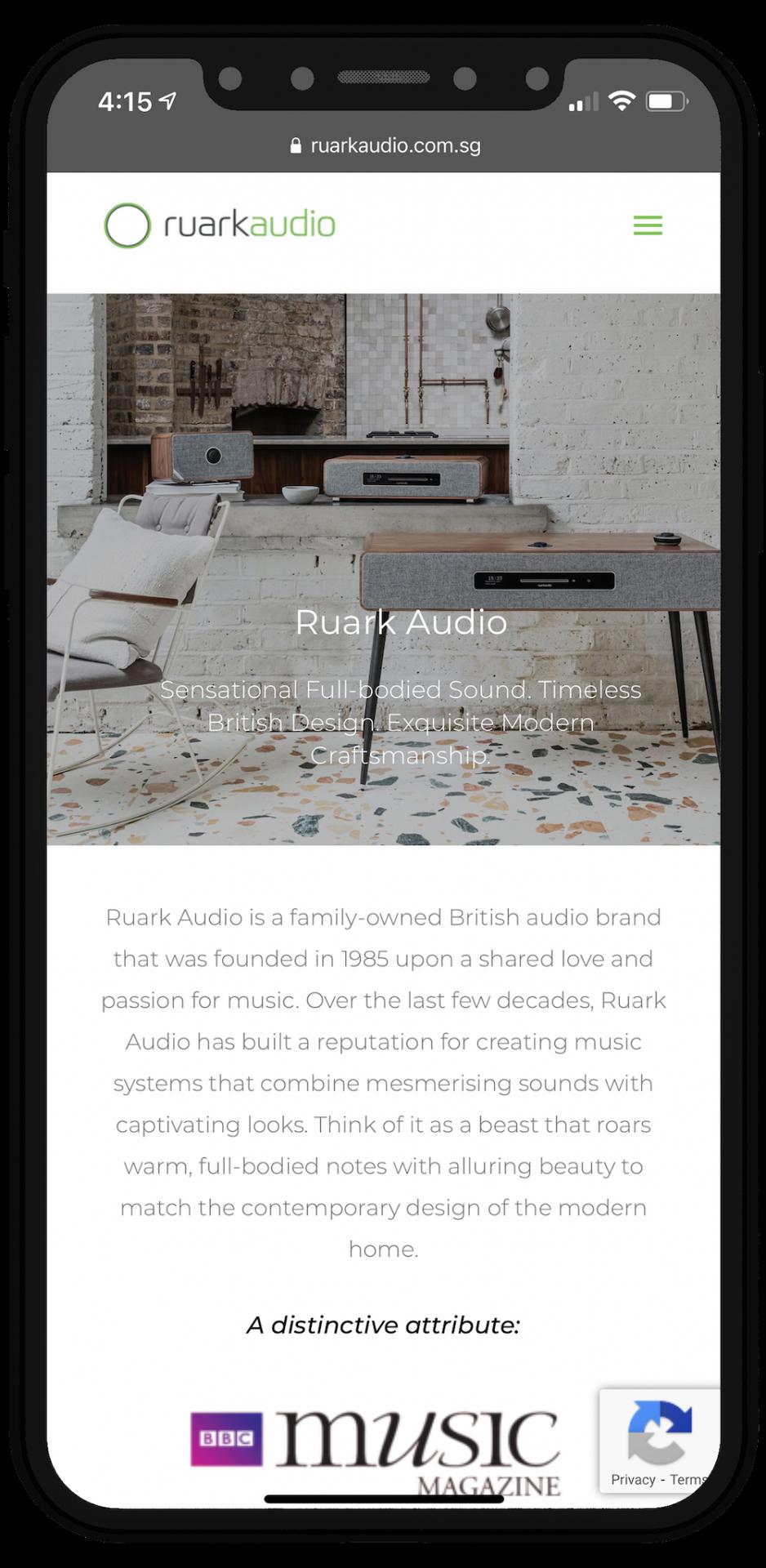 Ruark Audio Website