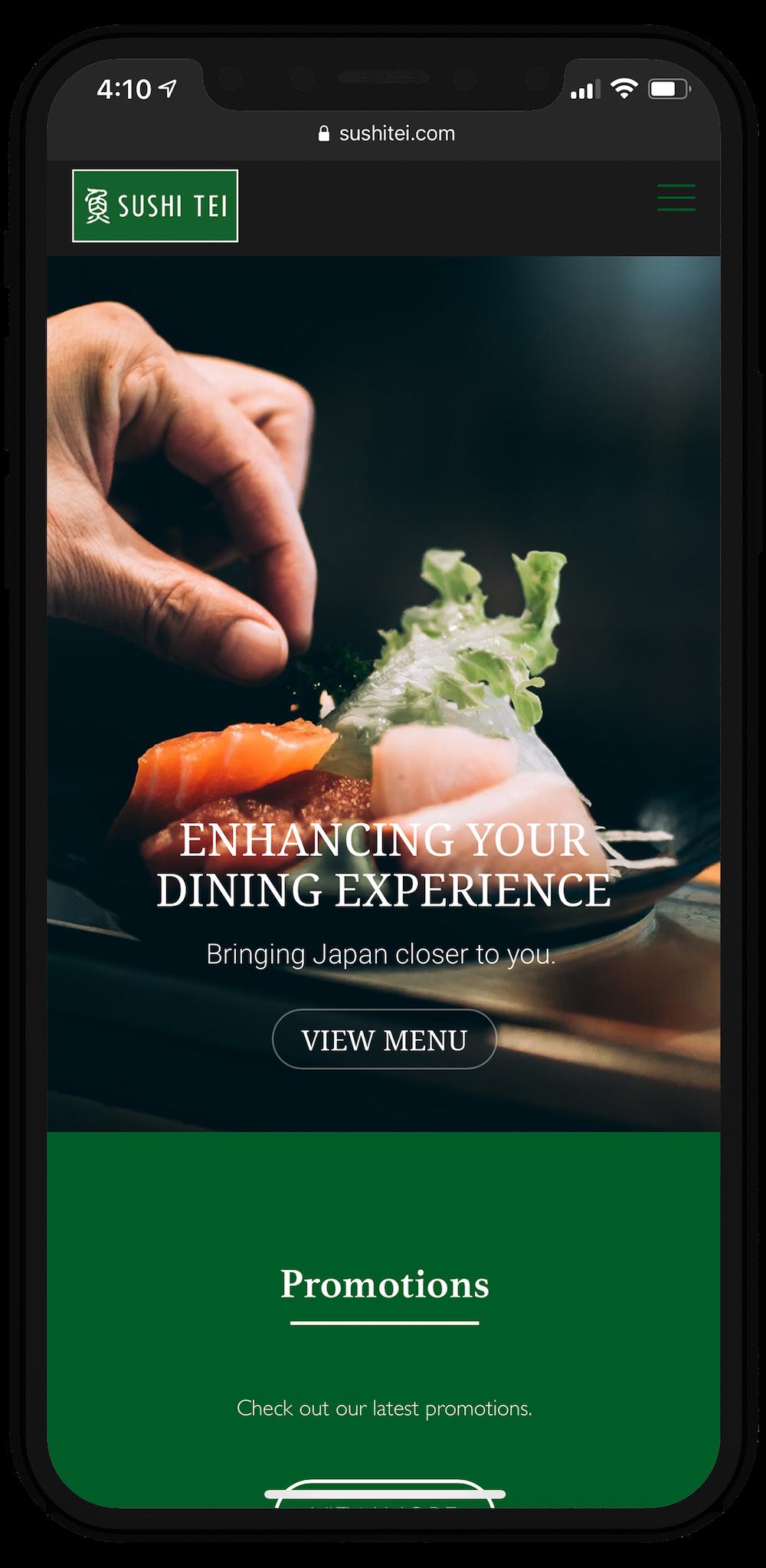 Sushi Tei Website