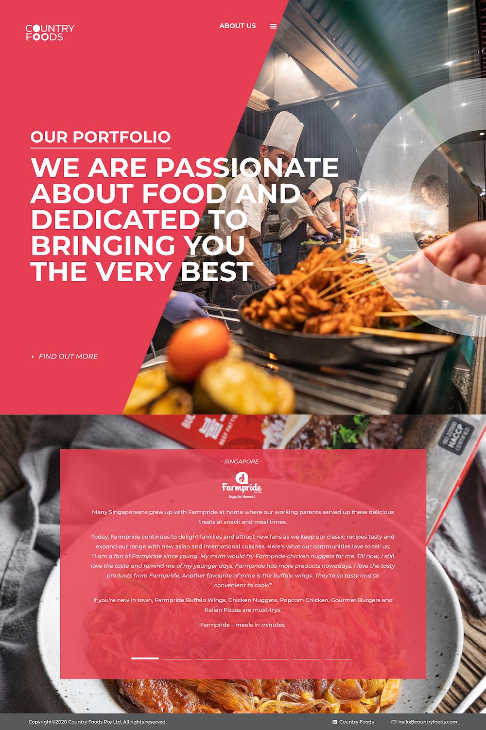 Country Foods Website